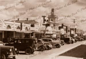 Grey Street, Glen Innes, NSW. c1930s. Cars. New South Wales