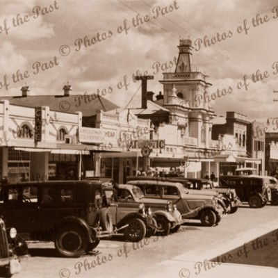 Grey Street, Glen Innes, NSW. c1930s. Cars. New South Wales