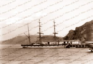 3m Barque LUTTERWORTH, Port Chalmers, NZ. Built 1868. New Zealand. Shipping