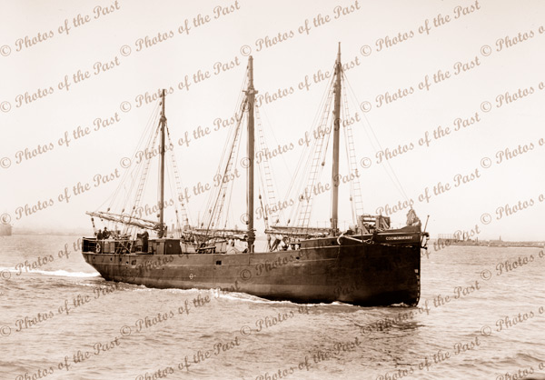 3m Aux Schooner COOMONDERRY (Built as steamship in 1886). Shipping. 1921