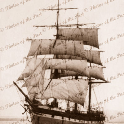 Brigantine AKAROA under sail. Built 1881. Shipping