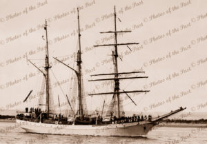 Barquentine DEWARUTJI Indonesian Training Ship. 1950s. Shipping