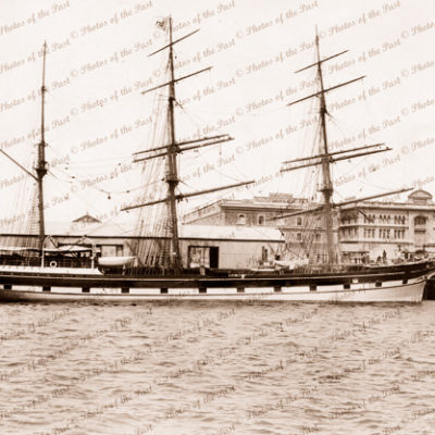 3m Barque MUNTER Built 1875, in 'New Dock' Pt. Adelaide. Shipping. South Australia. 1906