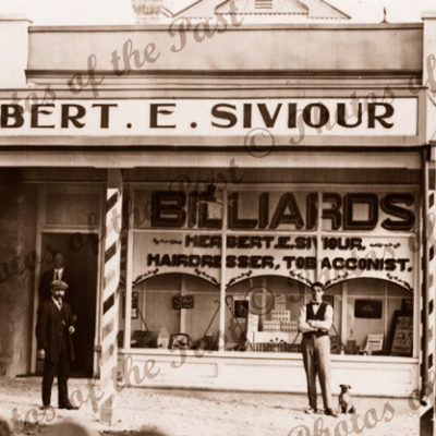 Herbert Siviour, Hairdresser, Tobacconist. Billiard Saloon. Waikerie, SA.1916. South Australia.
