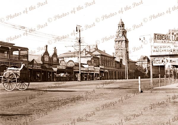 Streetecape of Boulder/Kalgoorlie WA. 1910s Western Australia.