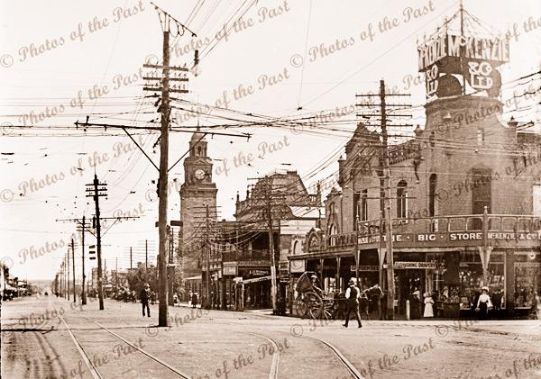 Main street McKenzie & Co store. Boulder/Kalgoorlie W.A. Western Australia. 1910s.