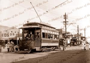 Boulder City tram, Boulder (near Kalgoorlie), WA. 1910s. Western Australia