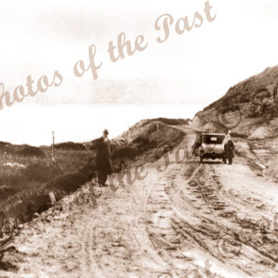"""The Great Ocean Road at """"Fairhaven"""", Vic. 1920s. Victoria. Car"""