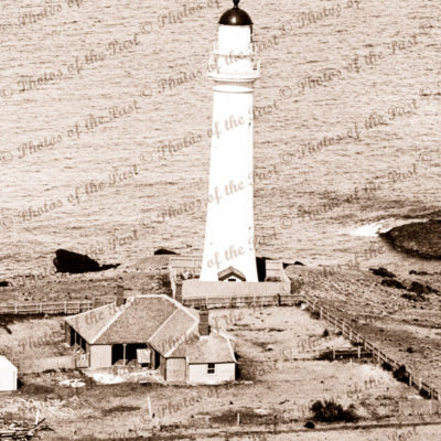 Aerial view Split Point lighthouse at Aireys Inlet, Vic. c1937