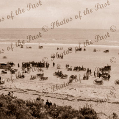 Sellicks Beach Motor Bike trials, SA. c1925. Racing South Australia