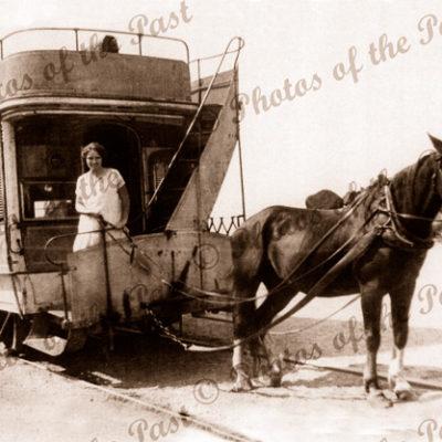 Victor Harbor Horse Tram. SA c1950s. South Australia. Granite Island