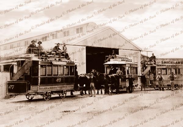 Tram Barn, Magill Rd, Maylands, SA. Adelaide, South Australia. Horse, 1880s