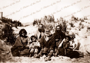 Aborigine (Poole) family of Paltoonga (indiginous name for Victor Harbor) SA. 1867. South Australia