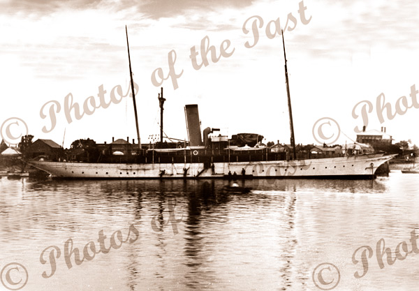 Dutton's (of Kapunda, SA) steam yacht ADELE at Port Adelaide, SA. South Australia