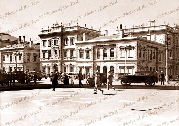 Treasury building Adelaide. Corner of King William St & Flinders St. Now a hotel.South Australia. c1920s
