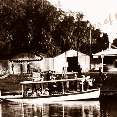 Excursion boat on River Torrens, Adelaide, SA. c 1910s. South Australia