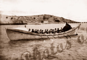 "Crew rowing lifeboat ""Lady Daly"""
