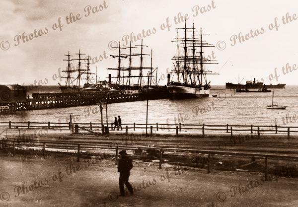 Shipping, Wallaroo, SA. South Australia. c1900s