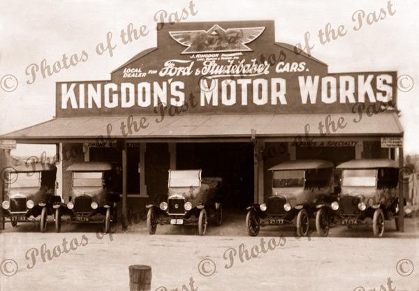 Kingdon's Motor Works, Loxton, SA. South Australia. Cars