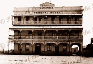 Federal Hotel, Bundaberg Qld. c1920s Queensland. E. Mansfield c1920s