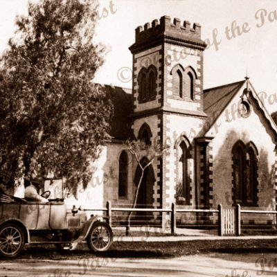 Anglican Church Unknown, c1920s. Probably SA. Car
