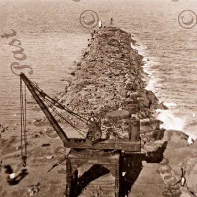 Breakwater, Port Victor, S.A.c1882. South Australia.