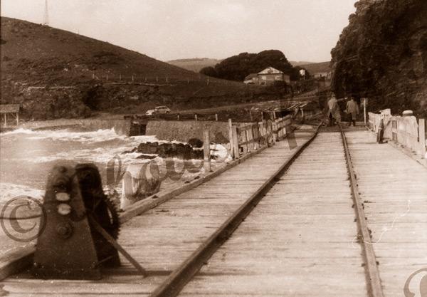 Second Valley jetty, SA. c1950. South Australia. Pier