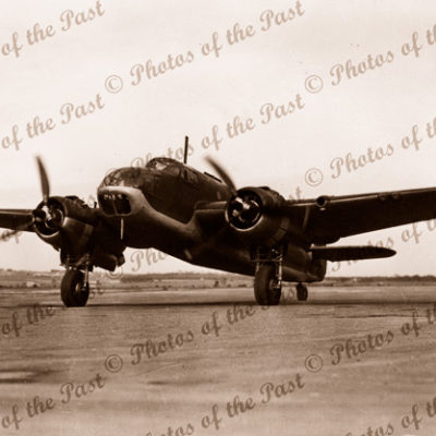 Beaufort Bomber at Parafield, SA? 1940s. airplane