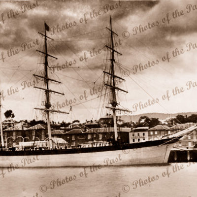 Barque ETHEL at Hobart, TAS. c1900s. Ship