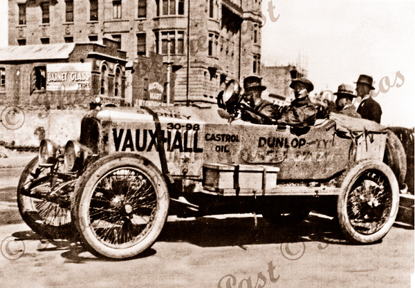 Vauxhall car in record breaking attempt. Fremantle to Sydney, 1923