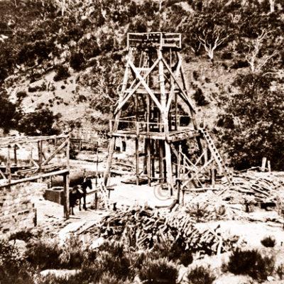 Main shaft at Talisker Mine, SA. c1890s. South Australia
