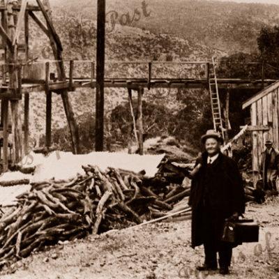 Workers at Main Shaft, Talisker Mine near Cape Jervis, SA. 1917. South Australia