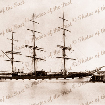 3M Ship LOCH SHIEL at wharf. Built 1877