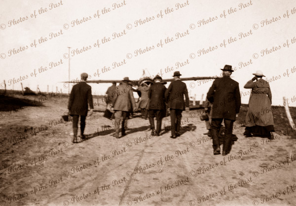 Wheeling Harry Butler's Bristol M1C ready for return flight to Adelaide, SA. 1919. South Australia.Aviator