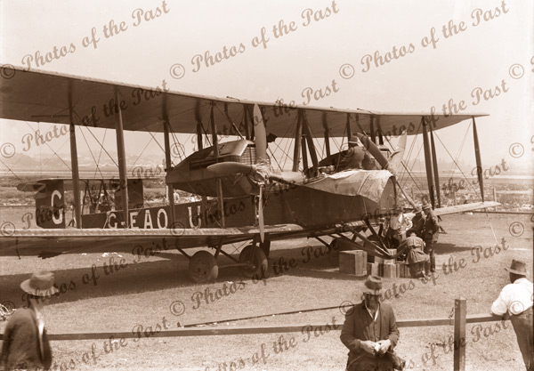 Vickers Vimy at Sydney, NSW after record breaking flight from UK. New South Wales, 1919. Aviation