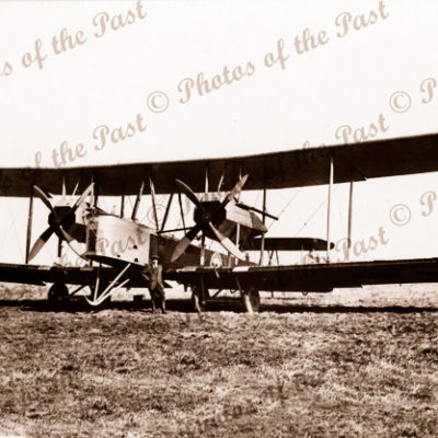 A Vickers Vimy in England 2 Rolls Royce Eagle Engines. Aeroplane