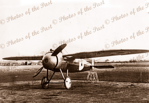 Bristol M1C monoplane with nose cowling. Taken in England. c1918.