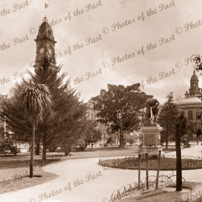 Looking across Victoria Square to Post Office, Adelaide, SA. South Australia 1880s