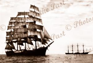 4m barque PAMIR & PASSAT. 1940s. Shipping