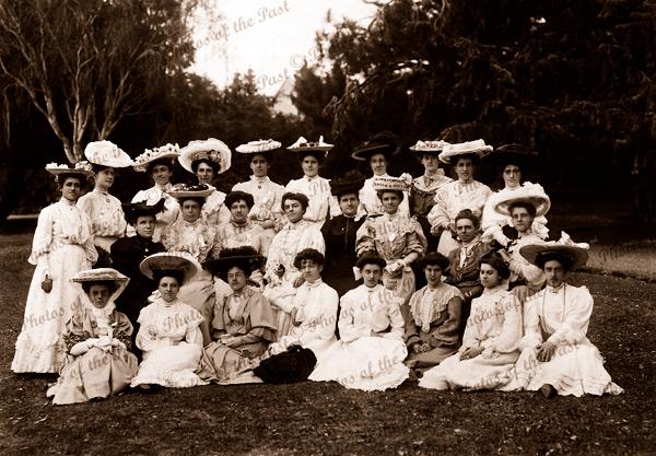 Women's group (Women's Christian Temperance Union) Hobart Botanical Gardens, Tasmania.1903