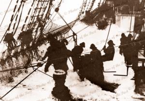 Rounding Cape Horn 4 M barque PARMA. c1932. Ship