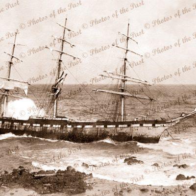3m Ship SPEKE aground Phillip Island, Victoria, 1906