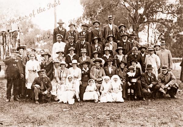 Myponga group on Australia Day, SA. South Australia. People. 1919