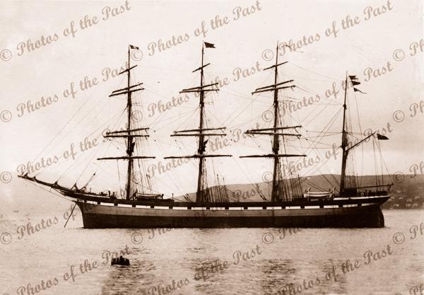 4M Barque MORTON (later EILBEK). Built 1892. Shipping
