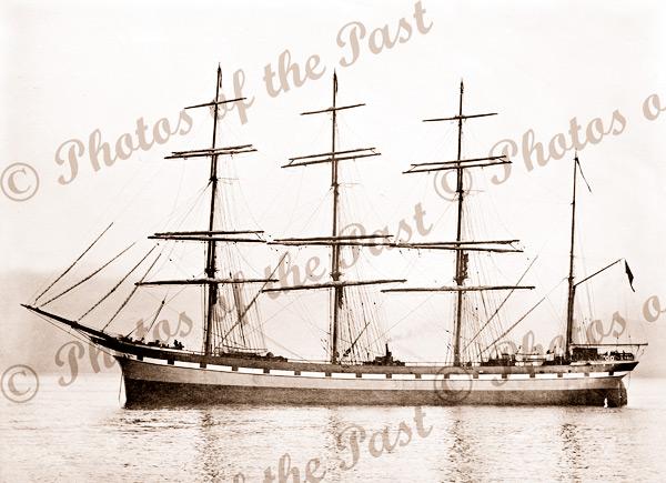 4M Barque INVERTROSSACHS. Built 1891. Shipping