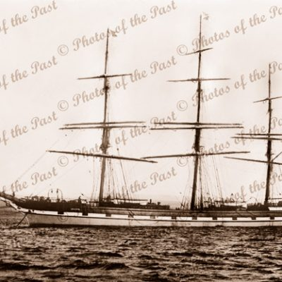 3M Ship LOCH ETIVE at anchor. Built 1877. Shipping