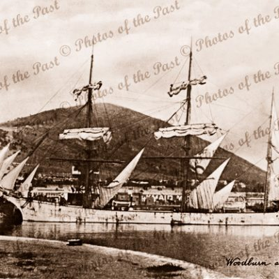 3M Barque WOODBURN, 1552 tons, at Capetown. Built 1896. (Wrecked Fiji). Shipping