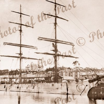 3M Barque GLENGARRY at wharf. Ship. Built1877