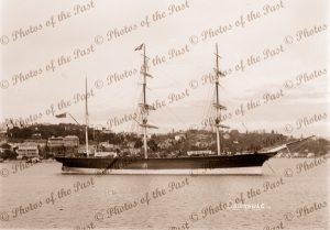 3M Barque CAIRNBULG. Built 1874. Shipping