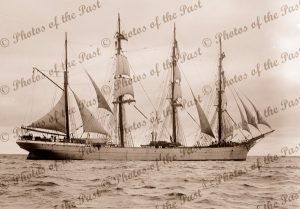 4M Barque BEATRICE under sail. Built 1881. Shipping